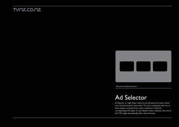 TVNZ Ad Selector specs