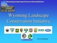 Funding Sources Available - Wyoming BLM