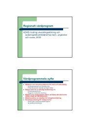 Brar, A. Regionalt vårdprogram för autism - Webbhotell SLL