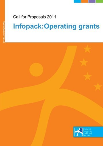 Infopack:Operating grants