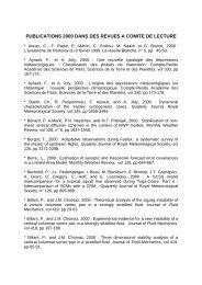 publications 2000 dans des revues a comite de lecture - Météo France
