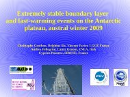 Extremely stable boundary layer and fast-warming events on the ...
