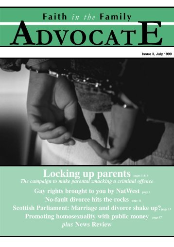 ADVOCATE - Issue 3 - The Christian Institute