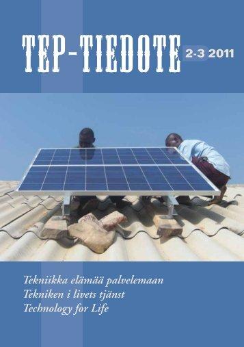 TEP-tiedote 2-3/2011 - Tekniikka elämää palvelemaan