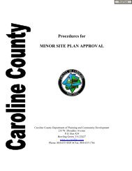 Procedures for MINOR SITE PLAN APPROVAL - Caroline County!
