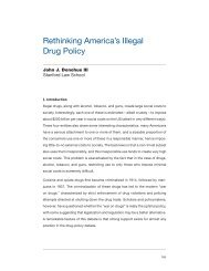 Rethinking America's Illegal Drug Policy - Yale Center for the Study ...
