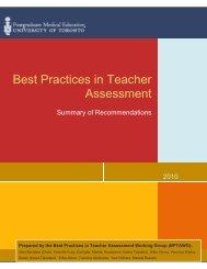 BPTA Recommendations 2010 - Post Graduate Medical Education ...