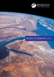 nceo students 2012 - NCEO - National Centre for Earth Observation