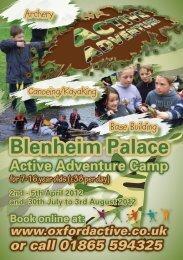 Blenheim Palace Active Adventure Camp