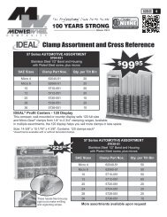 Clamp Assortment and Cross Reference - Midwest Wheel Companies