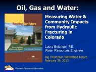 Laura Belanger - Big Thompson Watershed Forum