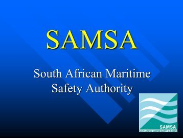 Captain Dave Colly - South African Maritime Safety Authority