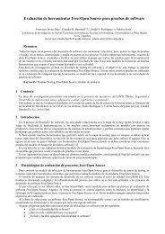 Evaluación de herramientas Free/Open Source para pruebas ... - linti