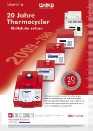 20 Jahre Thermocycler - Biometra