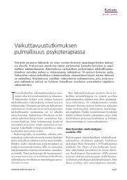 Vaikuttavuustutkimuksen pulmallisuus psykoterapiassa - Duodecim