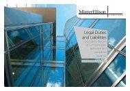 Legal Duties and Liabilities - Minter Ellison