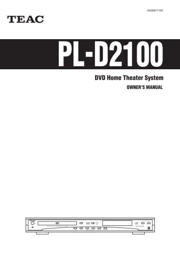 OWNERS MANUALS TEAC MC DX50I - Auto Electrical Wiring Diagram