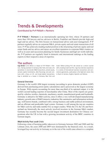 Trends & Developments - P+P Pöllath + Partners