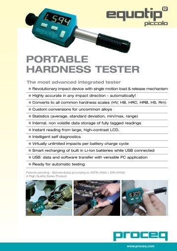 Portable Hardness tester - EMS: European Metrology Systems sa