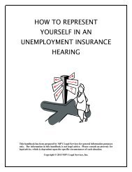 how to represent yourself in an unemployment insurance hearing