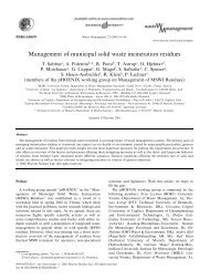 Management of municipal solid waste incineration residues - The Fu ...