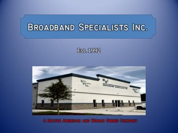 Broadband Specialists Inc. - BSIcable.com