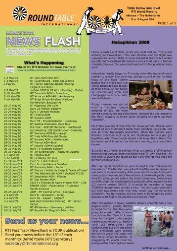 April 2009 Newsflash - Round Table International