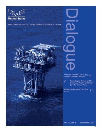 Vol. 11, No. 3 November 2003 - United States Association of Energy ...