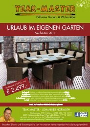 URLAUB IM EIGENEN GARTEN - Teak-Master.com