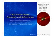 CME-Driven Shocks: Formation and Deformation - shine