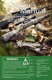 Model 710 Owner's Manual - Remington