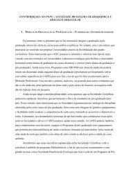 Sociedade Brasileira de Bioquímica e Biologia Molecular - FOPROP