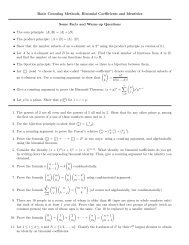 Basic Counting Methods, Binomial Coefficients and Identities Some ...