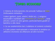 Token economy - USP di Piacenza
