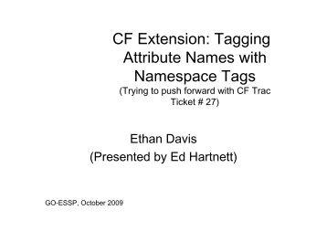 CF Extension: Tagging Attribute Names with ... - GO-ESSP