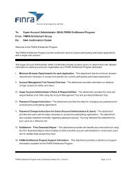 SAA Confirmation Packet - finra