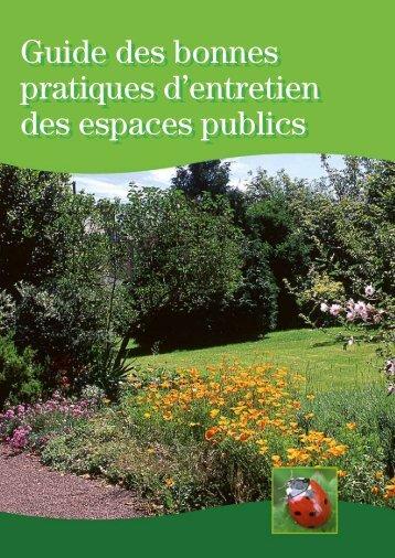 Guide des bonnes manières d'entretien des espaces publics