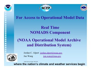 Progress of the real time NOMADS project at ... - GO-ESSP - NOAA