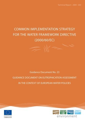 common implementation strategy for the water framework ... - Cliwat.eu