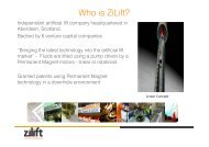 Who is ZiLift? - Statoil Innovate