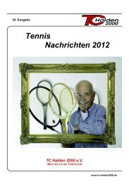 Unsere Jugend - TC Halden 2000