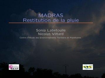 MADRAS Restitution de la pluie - Megha-Tropiques