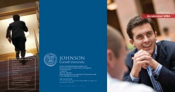Accelerated MBA - Johnson Graduate School of Management ...