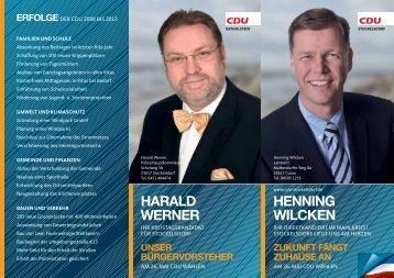 Henning Wilcken Harald Werner - CDU OV Stockelsdorf