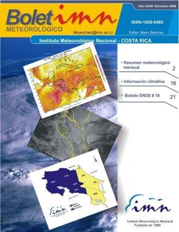 Diciembre 2008 - Instituto Meteorológico Nacional