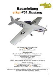 Bauanleitung arkai-P51 Mustang - RC-Outlet NRW
