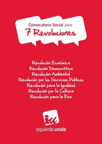 convocatoria social para 7 Revoluciones - Izquierda Unida