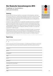 Start-up-Unternehmen - Der Deutsche Innovationspreis