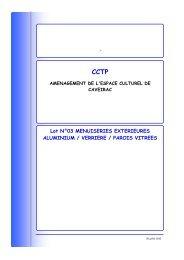 CCTP LOT 3 - Mairie de Caveirac