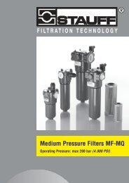 Medium Pressure Filters MF-MQ - Stauff